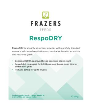 RespoDry EQ DEFRA Broad Spectrum Respiratory Disinfectant
