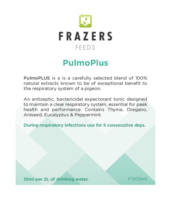 PulmoPLUS Respiratory Energy Supplement Frazers Raceing Pigeon